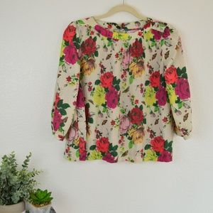 Baker by Ted Baker Rose Floral Butterfly Top